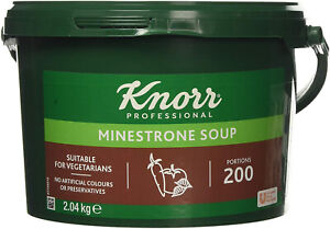 Knorr Professional Minestrone Soup Mix Tub 200 Portions Makes 34 Litres Vegetari