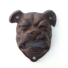 1 BullDog Cast Iron Bottle Opener Mountable Vintage Look Man Cave English Dog
