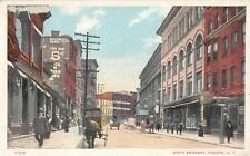 1911 Stores North Broadway Yonkers NY post card Westchester county