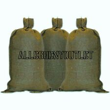 20 US Military Green Sandbags w/ ties 14x26 50 Lb Acrylic LONG LIFE Sand Bag NEW