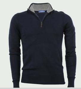 Coveri Collection Herren Pullover Half-Zip Pulli Mod Aigle halber Reißverschluss