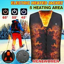 Heated Vest Electric Jacket Coat USB Warm Heat Pad Winter Body Warmer Unisex USA