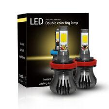 H11 H8 H9 LED Fog Light 80W Car Driving Lamp DRL 3000K Yellow Amber Bulbs 9600LM