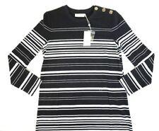 NWT Tory Burch Palm Striped Mariana Long Sleeve Dress Medium M