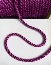 Stunning 4 MM Dark Purple Twisted Cord / Rope / Trim - 3 Yards (T916)