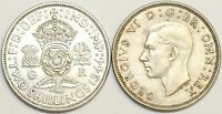 1937 to 1946 George VI Silver Florin Your Choice of Date / Year