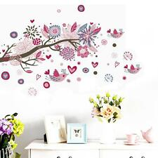 Birds & Blossom Floral Branch Wall Sticker Removable DIY Home Wall Decals
