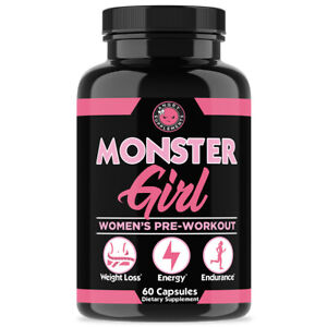 Angry Supplements Monster Girl Pre-Workout, Energy & Weight Loss for Women, 1PK