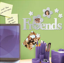 FRIENDS PHOTO FRAME MIRRORED wall stickers 6 decals decor light weight mirrors