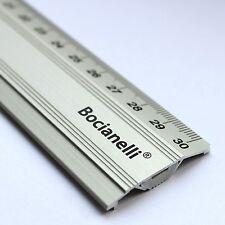 30cm 300mm Professional Metric Metal Aluminium Anti-slip Drawing Ruler Rule