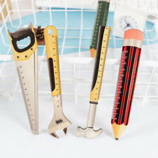1Pc Novelty Wooden Tool Pencil Shape Straight Ruler Measuring Tool Stationery