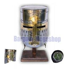 Medieval Knights Helmet Viking Templar Crusader Helmet Best Xmas New Year Gift