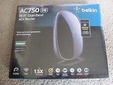Brand New Belkin AC 750 DB Wi-Fi Dual-Band AC+ Router F9K1116