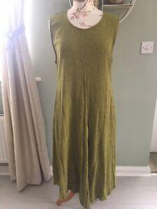 THE MASAI CLOTHING COMPANY LADIES GREEN SLEEVELESS CALF LENGTH DRESS SIZE XL