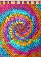 Indian Tie Dye Curtains Mandala Tapestry Wall Hanging Bohemian Valances Decor