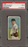 1909-11 T206 John McGraw Glove At Hip Piedmont 350-460 New York HOF PSA 3 VG