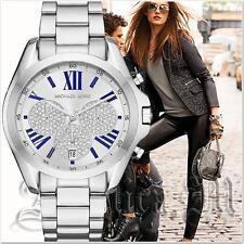 Original Michael Kors Uhr Damenuhr MK6320 BRADSHAW XL Farbe:Silber/Kristall  NEU