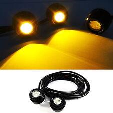 YELLOW Universal Fit Eagle Eye LED Fog DRL Daytime Running Light Car Motorcycle