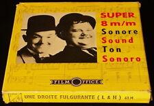 *** FILM SUPER 8 NB SON/60 METRES - LAUREL ET HARDY - UNE DROITE FULGURANTE ***