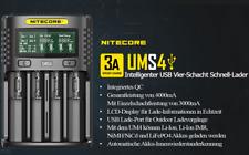 Nitecore UMS4 – intelligentes Ladegerät für Li-Ion, LiFePo4, Ni-MH, Ni-CD Akkus