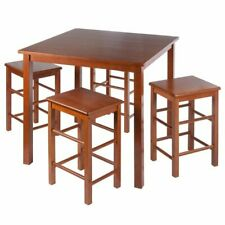 5-Piece Table Chairs Set Dining Kitchen Stool Kids Activity Compact Space Saver