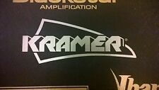 Kramer Decal Logo Sticker for Guitar Hard Case, Amp Cab, Wall Art, Window, Car