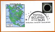 1851 -1900. Total Solar Eclipses of the Sun. North America,  FDC