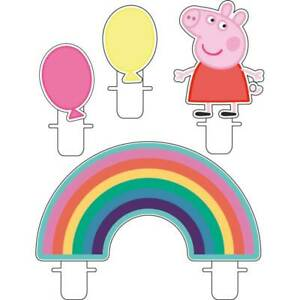 Peppa Pig Birthday Candles x 4 Partyware Children's Party Cake Topper Tableware
