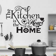 BIG Kitchen Heart Home Quote Wall Stickers Art Dining Room Removable Decals DIYB