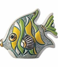 DeRosa Rinconada Baby Angel Fish Green NIB # F353G De Rosa Figurine NEW IN BOX