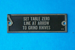 OLIVER Woodworking - Grinder Nameplate