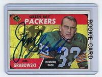 1968 PACKERS Jim Grabowski signed ROOKIE card Topps #183 AUTO RC Autographed GB