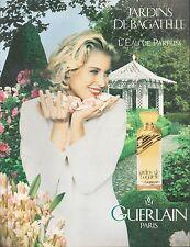 ▬► PUBLICITE ADVERTISING PARFUM PERFUME GUERLAIN Jardins de Bagatelle 1994