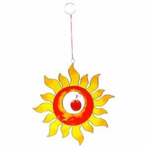 Suncatcher Sonne orange-gelb