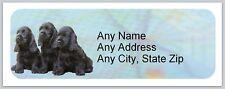 Personalized Address Labels Cocker Spaniel Buy3 get1 free (ac 767)
