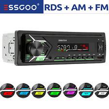 Autoradio mit Bluetooth Freisprech 2 USB SD Aux FM 7 Farben 1DIN MP3 RDS AM FM