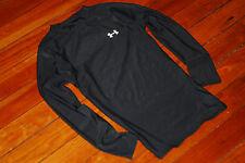 Boy's Under Armour Black HeatGear Long Sleeve Compression Shirt (Youth Large)