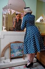 Bamboo Bettie Dress pinup polkadot shirt tea vintage 40s 50s ww2 UK 8 BNWT