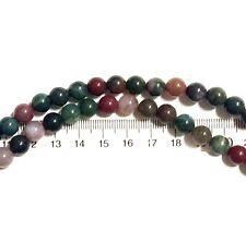 USA Bead Indian Agate 8mm Round Strand Semi Precious Gemstone Jewelry 63044