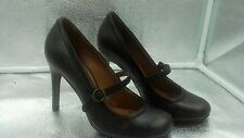 Bertie Mary Janes Sz 5 38 Vintage Style Brown Leather Court Womens Shoes VGC