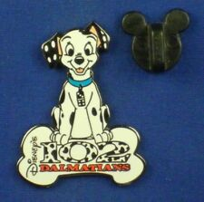 102 Dalmatians Domino with Bone Puppy Ds on card pin # 3121