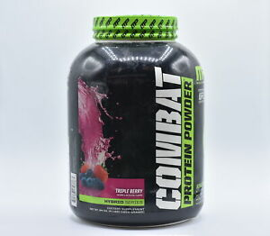 MusclePharm Combat 25g Whey Protein Powder, Triple Berry, 4lbs, EXP:05/2022