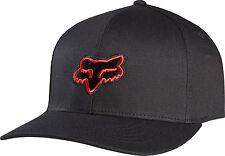 Fox Racing Youth Boys Kids Flexfit Hat Black Blue Red Fox Head Logo Ball Cap