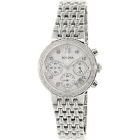 Bulova Women's Quartz Chronograph Diamond Accent 30mm Watch 96R204