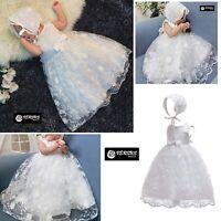 Vestito Bambina Neonata Abito Cerimonia Battesimo Newborn Princess Dress CHR003