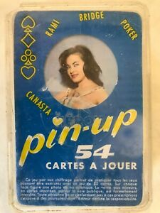 Rare Vintage French Nude Playing Cards Pin Up Glamour Girls 1960s Retro