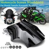 Front Motorcycle Windshield WindScreen ABS For Honda Yamaha Kawasaki Suzuki
