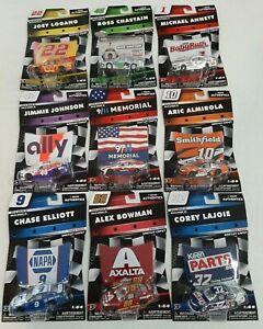 NASCAR Authentics 2019 Wave 10 Series Complete Set of 9 Diecast 1:64 NEW LIONEL