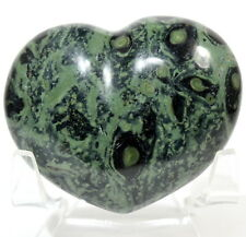 5.8cm 95g Verde Coccodrillo Eye Kambaba Diaspro Cristallo Minerale Cuore -