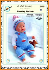 DOLLS KNITTING PATTERN no. 258 for BABYBORN.by VAL YOUNG